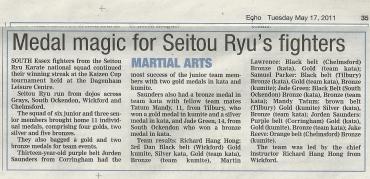 Echo Newspaper: 17/05/2011