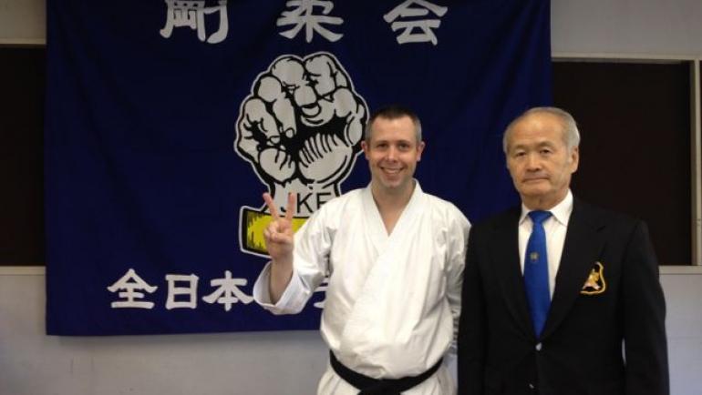 Sensei Martin passes grading in Japan