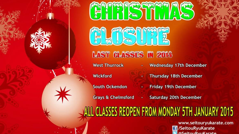 Christmas Closure 2014