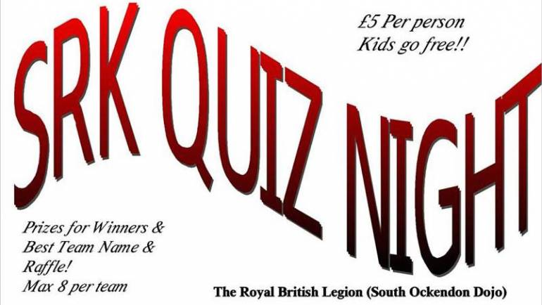 SRK Quiz Night: 7th Feb