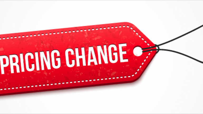 Fee changes from January 2016